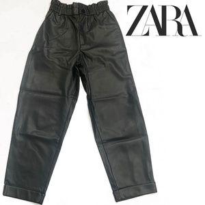 Zara Cinched Waist Leather Pants